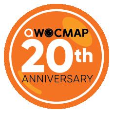 QWOCMAP 20th Anniversary Logo